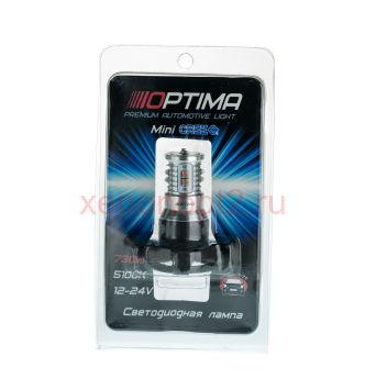 Светодиодная лампа Optima Premium PY24W MINI CREE XB-D CAN 50W YELLOW 12-24V (жёлтая)