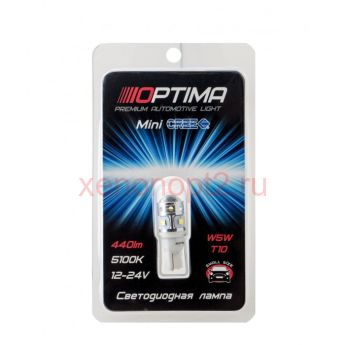 Светодиодная лампа Optima Premium W5W/W16W MINI CREE_XBD CAN 30W 12-24V 5100К